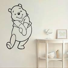 Pooh Bear Wall Sticker Winnie The Pooh Vinyl Wall Decals Room Decors Cartoon Home Stickers Animal Bedroom Cute Teenager B574 Wall Stickers Aliexpress