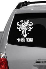Disney Haunted Mansion Foolish Mortal Wallpaper Car Decal Etsy
