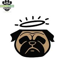 Pug Decal Angel Dog Halo Dog Car Vinyl Sticker Other Etsy