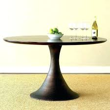 60 round wood pedestal dining table