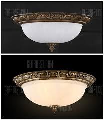 brass 2 light 10inch ceiling lamp retro