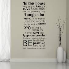 In This House Family Quotes Wall Sticker Lettering Home Decals Living Room Decor Ebay