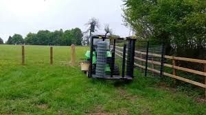 Field Estate Stock And Equestrian Wire Fencing With An Avant Loader Demo Youtube
