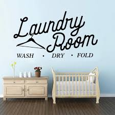 Large Laundry Wash Dry Fold Wall Sticker Laundry Washroom Quote Clothespin Words Wall Decal Laundry Room Vinyl Home Decor Wall Stickers Aliexpress