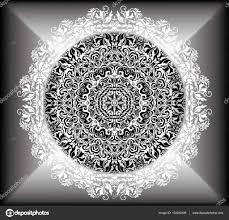 Mandala Bloemmotief Met Bloemen En Harten Kleurplaten Voor