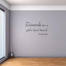 Diamonds Are A Girl S Best Friend Marilyn Monroe Wall Decal Vwaq