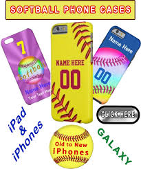 softball phone case personalized your