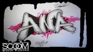 how to draw graffiti names step by step