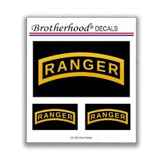 Decals United States Army Ranger Tab Car Window Car Laptop Etsy