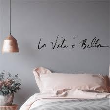 La Vita E Bella Life Is Beautiful Italian Expression Quote Wall Decal Nordicwallart Com