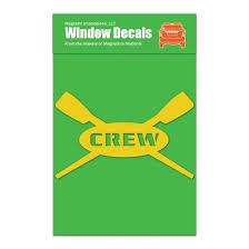 Crew Rowing Car Window Decal Yellow Walmart Com Walmart Com