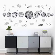 Diy Sketch Planet Universe Wall Sticker Kids Bedroom Decoration Living Room Decor Removable Vinyl Art Mural Decal Posters Buy At The Price Of 4 41 In Aliexpress Com Imall Com