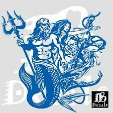 Mermaid Sexy Girl Poseidon Aqua Man Car Boat Truck Window Vinyl Decal Sticker Ebay