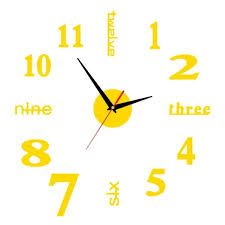 Vova English Numbers Diy Small Clock Red Modern Decal Wall Clock Home Kitchen Roman Diy Mirrors Home Wall Sticker