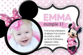 Detalles Invitaciones Minnie Mouse Fiesta Cumple Rayas Disney Rosa