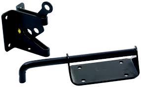 National Hardware S621 544 S621 543 Stanley Pro Choice Heavy Duty Gate Latch Black Steel 033923148740 3
