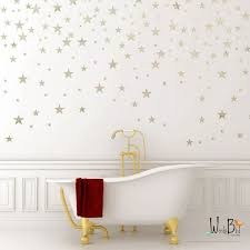 Silver Stars Wall Decals For Outer Space Nursery Decor Silver Wall Stickers Star Stickers For Walls Wbstrm Baby Nursery Wall Decor Gold Star Wall Decals Star Wall Decals