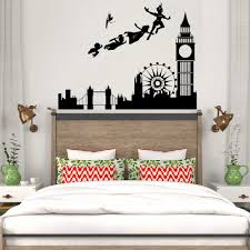 Wall Stickers For Kids Rooms Decal Peter Pan London Cartoon Pirate Mural Children Boys Nursery Bedroom Home Decor Modern Lc090 Sticker For Kids Room Wall Stickers For Kidswall Sticker Aliexpress