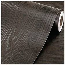 Amazon Com F U Faux Wood Grain Wall Paper Self Adhesive Vinyl Shelf Liner Covering For Kitchen Countertop Cabinets Drawer Furniture Wall Decal 23 4 Wx117 L Black Brown Sandalwood Home Kitchen
