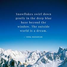 blue sky and snow mountains quote instagram post templates by canva