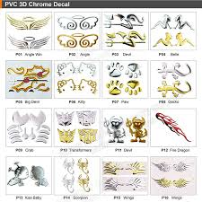Custom Printed 3d Soft Car Decal Silver Angel Wing Car Sticker Factory Price Buy Car Decal Car Sticker Factory Price Product On Alibaba Com