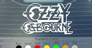 Ozzy Osbourne Vinyl Decal Sticker Custom Size Color Black Sabbath Alice Cooper Ebay