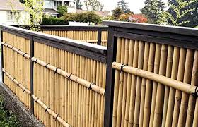 Natural Tan Garden Fence Panels Bama Bamboo Striking Privacy Post Home Elements And Style Best Looking Fences Ideas Diy Vegetable Crismatec Com
