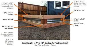raised garden bed designs free garden