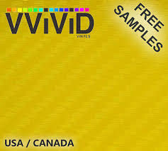 Vvivid Xpo Carbon Fiber Yellow Car Wrap Vinyl Decal Ebay