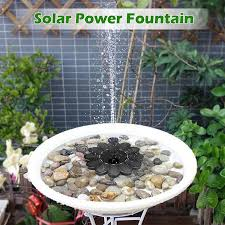 floating solar water fountain pump