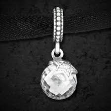 moon stars clear cz pendant charm