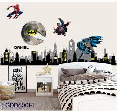 Batman Gotham City Decal Marvel Hero Decal Batman Mural Gotham City Buildings Batman Decal Batman Sticker City Night Skyline Free