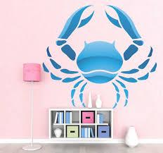 Cancer Zodiac Sign Wall Sticker Tenstickers