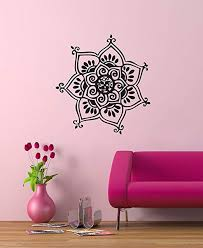 Amazon Com Henna Tattoo Floral Intricate Design Wall Decal 22 X 21 Home Kitchen