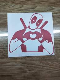 Vinyl Decal Truck Car Sticker Laptop Marvel I Love Deadpool