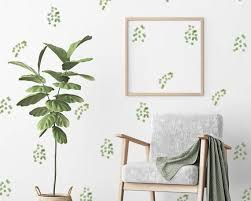 Plant Wall Decal Eucalyptus Leave And Green Leaf Wall Art Botanical Stickers Art Botanical Decal Eucalyptu In 2020 Plant Wall Leaf Wall Art Playroom Wall Decals