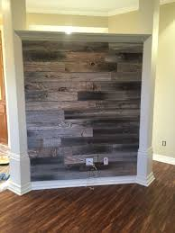 Barn Wood Wall Made From Old Fence Pickets Much Easier And Faster Than Making A Pallet Wall Barnwood Wall Old Fences Pallet Wall