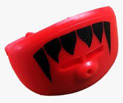 red lip shield mouth guard with black