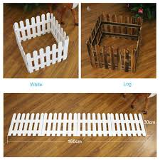 1 Or 2 Wooden Snow Fence For Garden Tree Christmas Xmas Skirt Stand Cover Decor