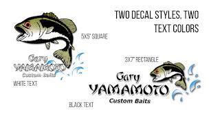 Yamamoto Logo Clear Vinyl Decals