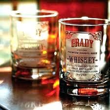 custom whiskey glasses monogrammed