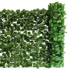 Goplus 59 X118 Faux Ivy Leaf Decorative Privacy Fence Screen Artificial Hedge Fencing