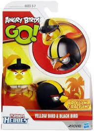 Angry Birds GO Playskool Heroes Yellow Bird Black Bird Mini Figure ...