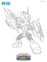 skylander giants coloring pages free