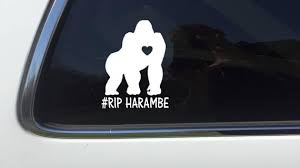 Thatlilcabin Rest In Peace Harambe 6 As241 Sticker Etsy
