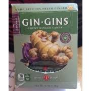 gin gins chewy ginger candy calories