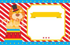 Invitaciones De Fiesta Circo
