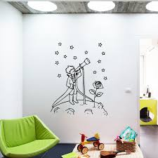Cartoon Little Prince Vinyl Wall Stickers For Kids Room Decorative Decal Wallpaper Princes Sticker For Baby Wall Decor Decals Wall Stickers Aliexpress