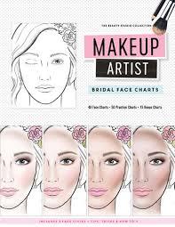book info makeup bridal face charts