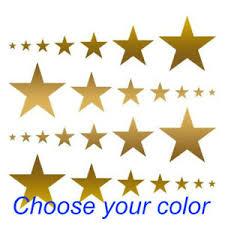 80 Star Sticker Vinyl Decal Sky Gold Wall Stars Nursery Kids Room Peel And Stick Ebay